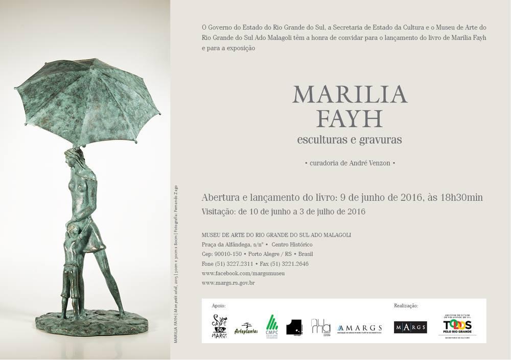 Marilia Fayh esculturas e gravuras no MARGS